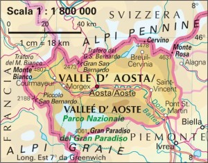 Valle d'Aosta On The Map