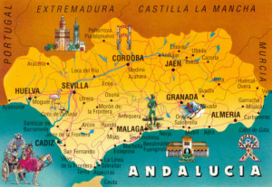 Andalusia on a Map