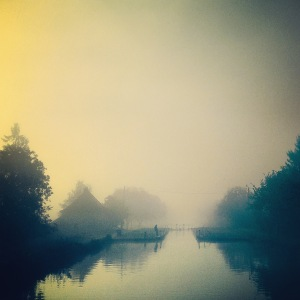 Morning Mist - Approaching a Lock, Canal du Bourgogne