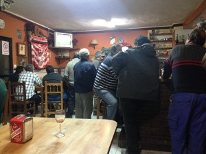 The Locals During the Football...