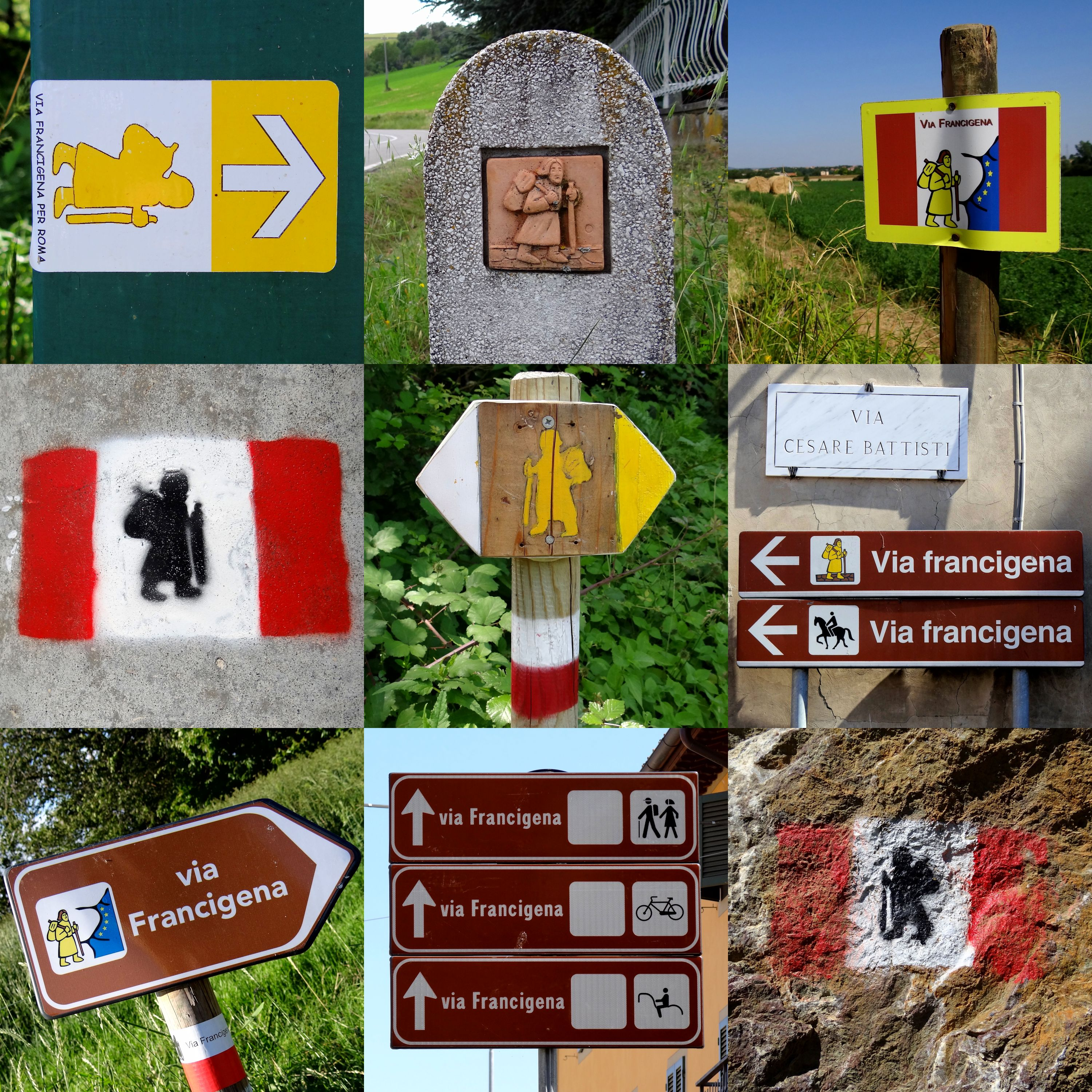 Via-Francigena-Signposts-In-Italy-2012